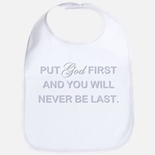 PUT GOD FIRST Bib