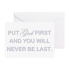 PUT GOD FIRST Greeting Card