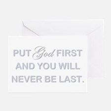 PUT GOD FIRST Greeting Cards (Pk of 10)