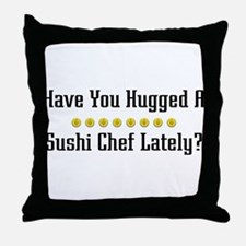 Hugged Sushi Chef Throw Pillow