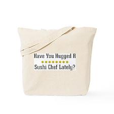 Hugged Sushi Chef Tote Bag