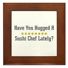 Hugged Sushi Chef Framed Tile