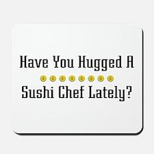 Hugged Sushi Chef Mousepad