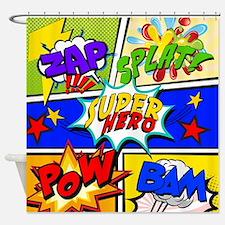Superhero Comic Book Shower Curtain