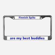 Finnish Spitz Best Buddies License Plate Frame