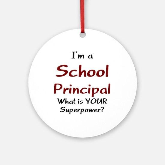 school principal Ornament (Round)