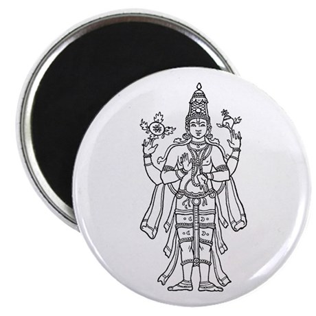"Vishnu - Hindu Diety 2.25"" Magnet (10 pack)"