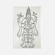 Vishnu - Hindu Diety Rectangle Magnet (10 pack)