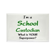 school custodian Rectangle Magnet