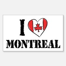 I Love Montreal Rectangle Decal