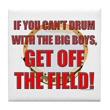 Drum With The Big Boys Tile Coaster