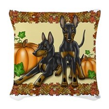 Autumn Toy Manchester Terriers Woven Throw Pillow