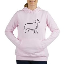 Golden Retriever Sketch Women's Hooded Sweatshirt