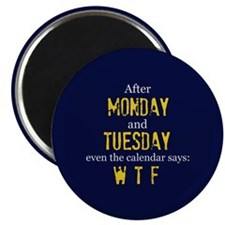 Monday Tuesday Magnets