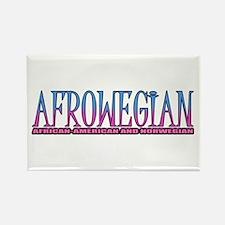 Afrowegian Rectangle Magnet