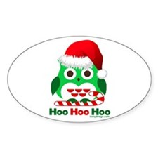 Christmas Owl Hoo Hoo Hoo Decal