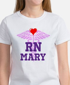 RN Pink Caduceus with purple letters T-Shirt