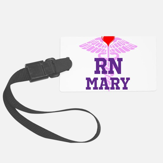 RN Pink Caduceus with purple letters Luggage Tag