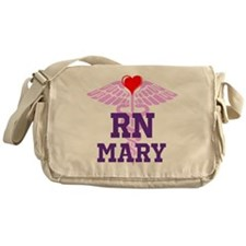 RN Pink Caduceus with purple letters Messenger Bag