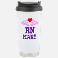 RN Pink Caduceus with purple letters Travel Mug