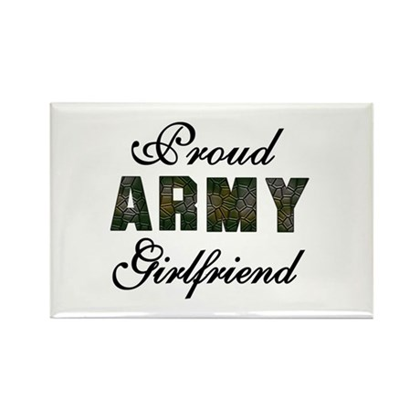 Proud Army Girlfriend Rectangle Magnet (10 pack)