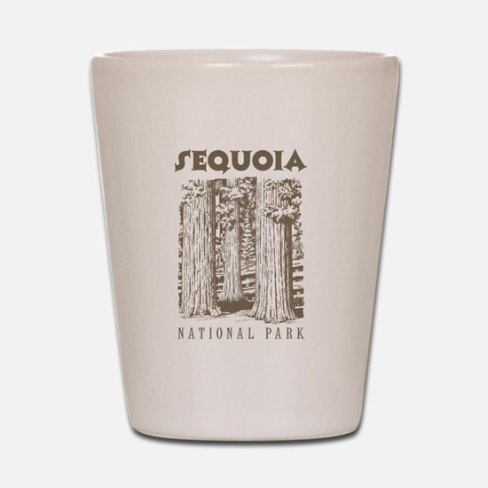 Sequoia National Park Trees Shot Glass