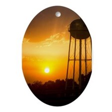 Rural Sunset Ornament (Oval)