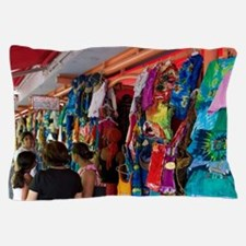 A market in St. John's, Antigua. Pillow Case