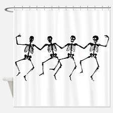Dancing Skeletons Shower Curtain
