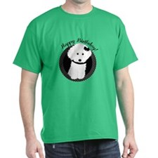 White Poodle Party Dog With Cupcake T-Shirt