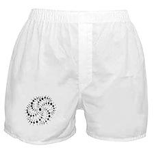 Harmonic Spiral Crop Circle Boxer Shorts