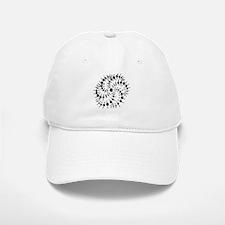Harmonic Spiral Crop Circle Baseball Baseball Cap
