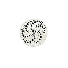 Harmonic Spiral Crop Circle Mini Button (100 pack)