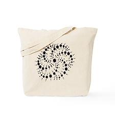 Harmonic Spiral Crop Circle Tote Bag