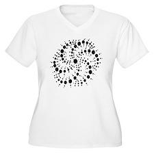 Harmonic Spiral Crop Circle T-Shirt