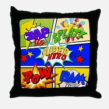 Superhero Comic Book Throw Pillow