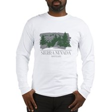 Sierra Nevada Mountain Range Long Sleeve T-Shirt