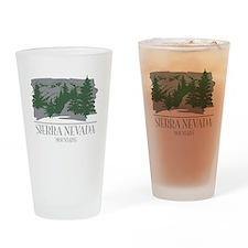 Sierra Nevada Mountain Range Drinking Glass
