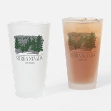 Sierra Nevada Mountain Range Drinking Glass