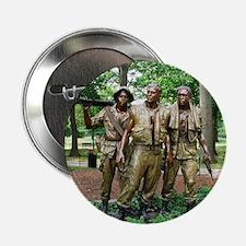 """Three Vietnam Servicemen Statue - Was 2.25"""" Button"""