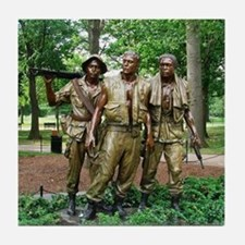 Three Vietnam Servicemen Statue - Was Tile Coaster