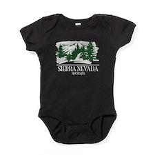 Sierra Nevada Mountain Range Baby Bodysuit