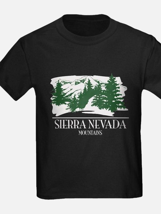 Sierra Nevada Mountain Range T-Shirt