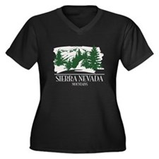 Sierra Nevada Mountain Range Plus Size T-Shirt
