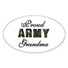 Proud Army Grandma Oval Decal