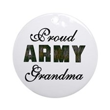 Proud Army Grandma Ornament (Round)