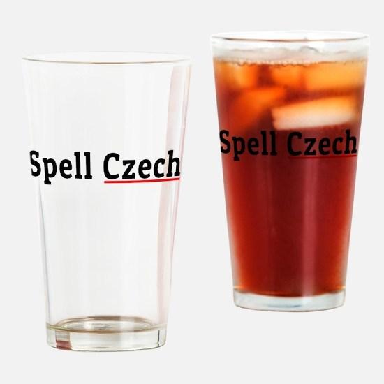 Spell Czech Drinking Glass