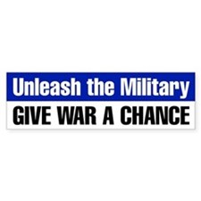 Give War a Chance Bumper Sticker (Blue)