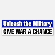 Give War a Chance Bumper Sticker (Blue)