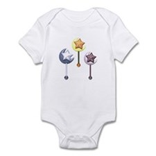 Multicolored Moon and Star Rattles Infant Bodysuit
